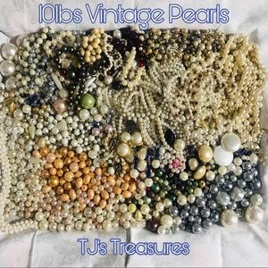 ⭐️10LBS PEARLS⭐️Loose Beads & 33 Necklaces (READ)!